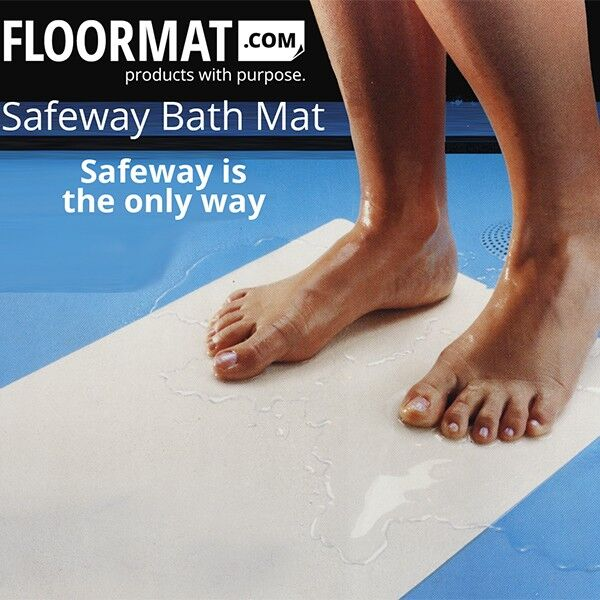 Vinyl Floor Mat Durable Soft And Easy To Clean Ideal: Safeway Bath Mat